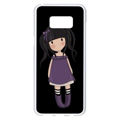 Dolly Girl In Purple Samsung Galaxy S8 Plus White Seamless Case by Valentinaart
