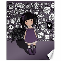 Dolly Girl In Purple Canvas 16  X 20   by Valentinaart