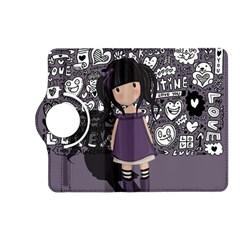 Dolly Girl In Purple Kindle Fire Hd (2013) Flip 360 Case by Valentinaart