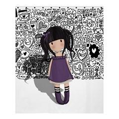 Dolly Girl In Purple Shower Curtain 60  X 72  (medium)  by Valentinaart