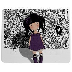 Dolly Girl In Purple Jigsaw Puzzle Photo Stand (rectangular) by Valentinaart
