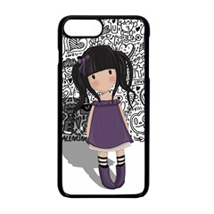 Dolly Girl In Purple Apple Iphone 8 Plus Seamless Case (black) by Valentinaart