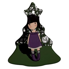 Dolly Girl In Purple Christmas Tree Ornament (two Sides) by Valentinaart