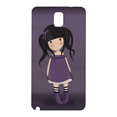 Dolly Girl In Purple Samsung Galaxy Note 3 N9005 Hardshell Back Case by Valentinaart