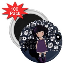 Dolly Girl In Purple 2 25  Magnets (100 Pack)  by Valentinaart