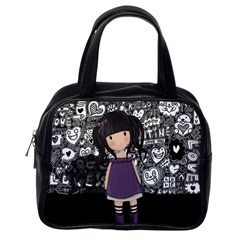 Dolly Girl In Purple Classic Handbags (one Side) by Valentinaart