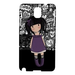Dolly Girl In Purple Samsung Galaxy Note 3 N9005 Hardshell Case by Valentinaart
