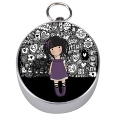 Dolly Girl In Purple Silver Compasses by Valentinaart