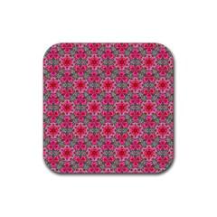 Diamond Star Rubber Coaster (square)  by Cveti