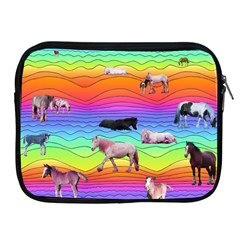 Horses In Rainbow Apple Ipad 2/3/4 Zipper Cases by CosmicEsoteric