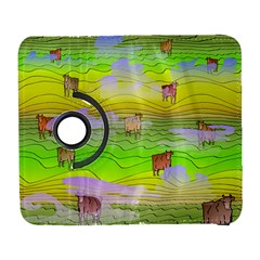 Cows And Clouds In The Green Fields Galaxy S3 (flip/folio) by CosmicEsoteric