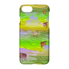 Cows And Clouds In The Green Fields Apple Iphone 8 Hardshell Case by CosmicEsoteric