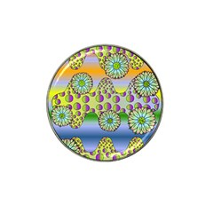 Amoeba Flowers Hat Clip Ball Marker by CosmicEsoteric