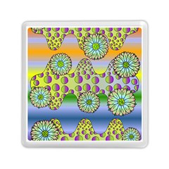 Amoeba Flowers Memory Card Reader (square)  by CosmicEsoteric