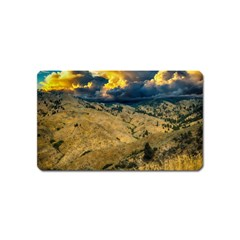 Hills Countryside Landscape Nature Magnet (name Card) by Onesevenart