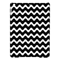 Wave Pattern Wavy Halftone Ipad Air Hardshell Cases by Celenk