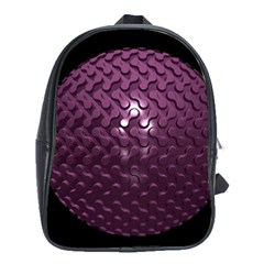 Sphere 3d Geometry Math Design School Bag (xl) by Celenk
