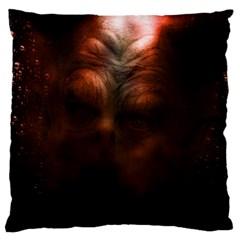 Monster Demon Devil Scary Horror Large Flano Cushion Case (one Side) by Celenk