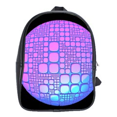 Sphere 3d Futuristic Geometric School Bag (xl) by Celenk