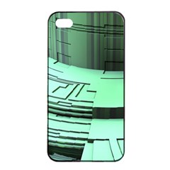 Futuristic Urban Architecture Apple Iphone 4/4s Seamless Case (black)