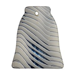 Aqua Building Wave Bell Ornament (two Sides) by Celenk