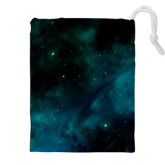 Green Space All Universe Cosmos Galaxy Drawstring Pouches (xxl) by Celenk
