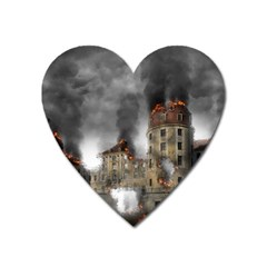 Destruction Apocalypse War Disaster Heart Magnet by Celenk