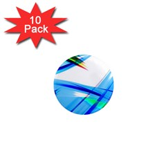 Lines Vibrations Wave Pattern 1  Mini Magnet (10 Pack)  by Celenk