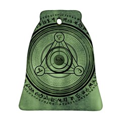 Rune Geometry Sacred Mystic Bell Ornament (two Sides) by Celenk