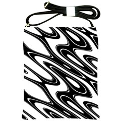 Black And White Wave Abstract Shoulder Sling Bags by Celenk