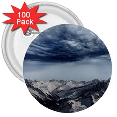 Mountain Landscape Sky Snow 3  Buttons (100 Pack)  by Celenk