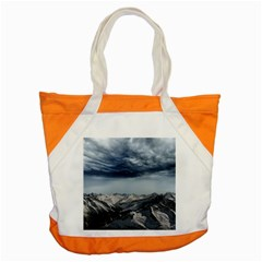 Mountain Landscape Sky Snow Accent Tote Bag by Celenk