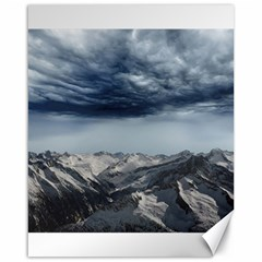 Mountain Landscape Sky Snow Canvas 16  X 20   by Celenk