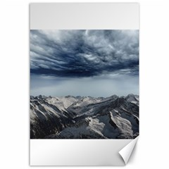 Mountain Landscape Sky Snow Canvas 24  X 36  by Celenk