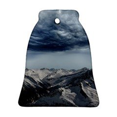 Mountain Landscape Sky Snow Ornament (bell) by Celenk