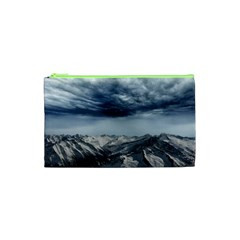 Mountain Landscape Sky Snow Cosmetic Bag (xs) by Celenk