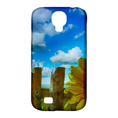 Sunflower Summer Sunny Nature Samsung Galaxy S4 Classic Hardshell Case (pc+silicone) by Celenk