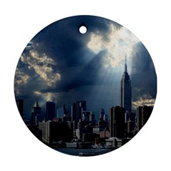 New York America New York Skyline Ornament (round) by Celenk