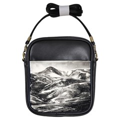 Mountains Winter Landscape Nature Girls Sling Bags by Celenk