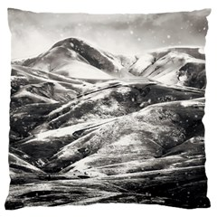 Mountains Winter Landscape Nature Large Flano Cushion Case (two Sides) by Celenk