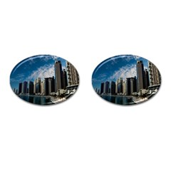 Skyscraper City Architecture Urban Cufflinks (oval) by Celenk