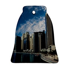 Skyscraper City Architecture Urban Bell Ornament (two Sides) by Celenk