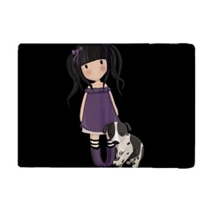 Dolly Girl And Dog Apple Ipad Mini Flip Case by Valentinaart