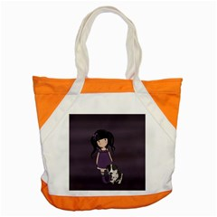 Dolly Girl And Dog Accent Tote Bag by Valentinaart