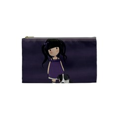 Dolly Girl And Dog Cosmetic Bag (small)  by Valentinaart