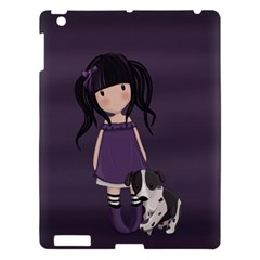 Dolly Girl And Dog Apple Ipad 3/4 Hardshell Case by Valentinaart