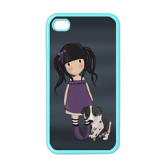Dolly Girl And Dog Apple Iphone 4 Case (color) by Valentinaart