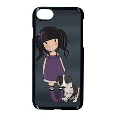 Dolly Girl And Dog Apple Iphone 8 Seamless Case (black) by Valentinaart