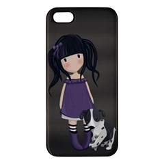 Dolly Girl And Dog Apple Iphone 5 Premium Hardshell Case by Valentinaart