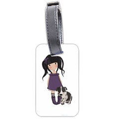 Dolly Girl And Dog Luggage Tags (one Side)  by Valentinaart